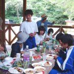 下区子供会どあいキャンプ③昼食DSC02994